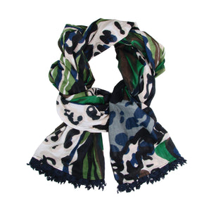 Load image into Gallery viewer, Watercolor Scarf - Navy
