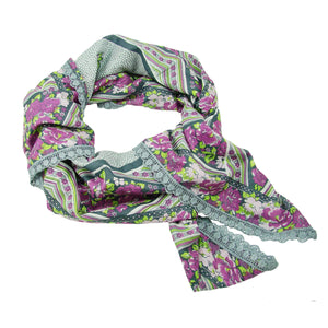 Load image into Gallery viewer, Floral Confetti Scarf - Gray