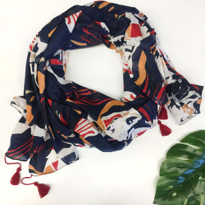 Topography Scarf - Navy
