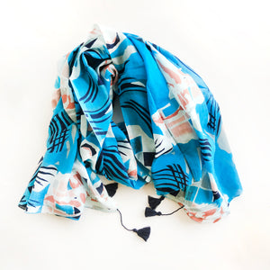 Topography Scarf - Turquoise