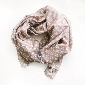 Load image into Gallery viewer, Petal Print Scarf - Stone