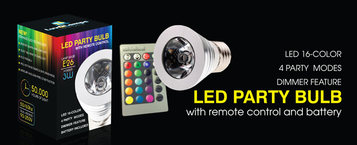 LuvALamps LED Party Bulb
