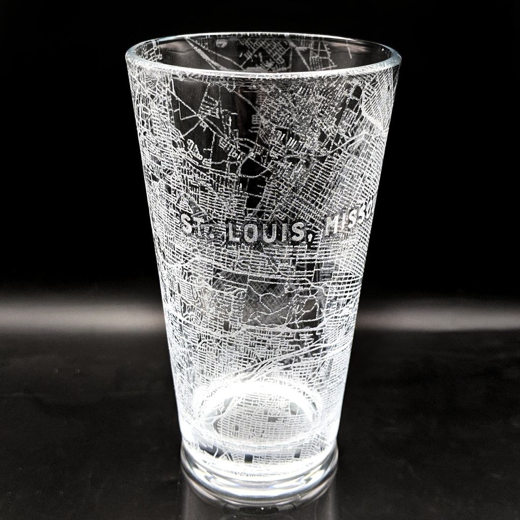 SAINT LOUIS, MO - Engraved Pint Glass