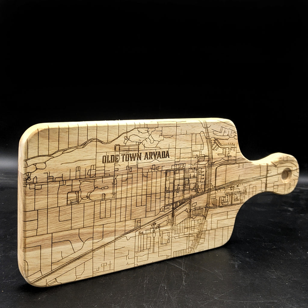 CUSTOM MAP DESIGN - Engraved Cutting Board
