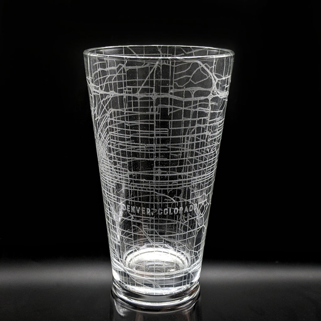 DENVER, CO - Engraved Pint Glass