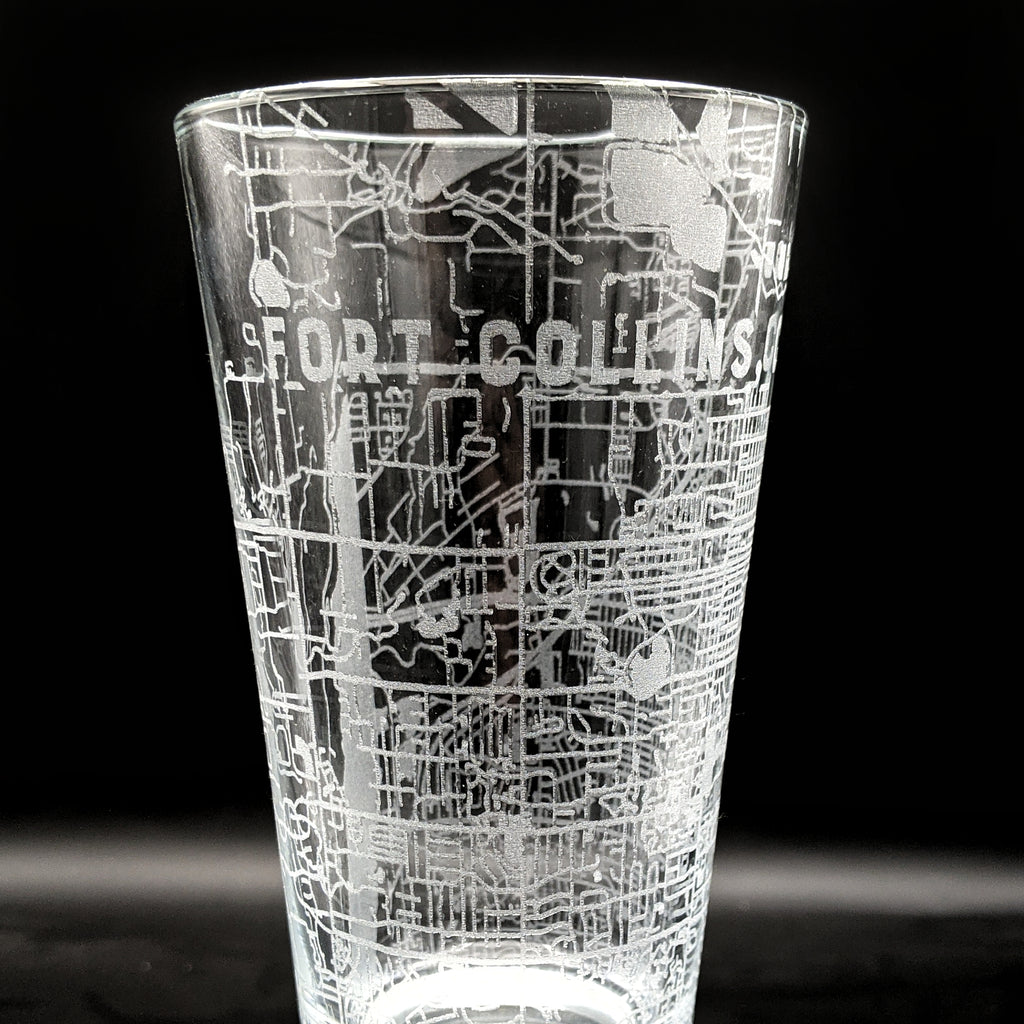 FORT COLLINS, CO - Engraved Pint Glass