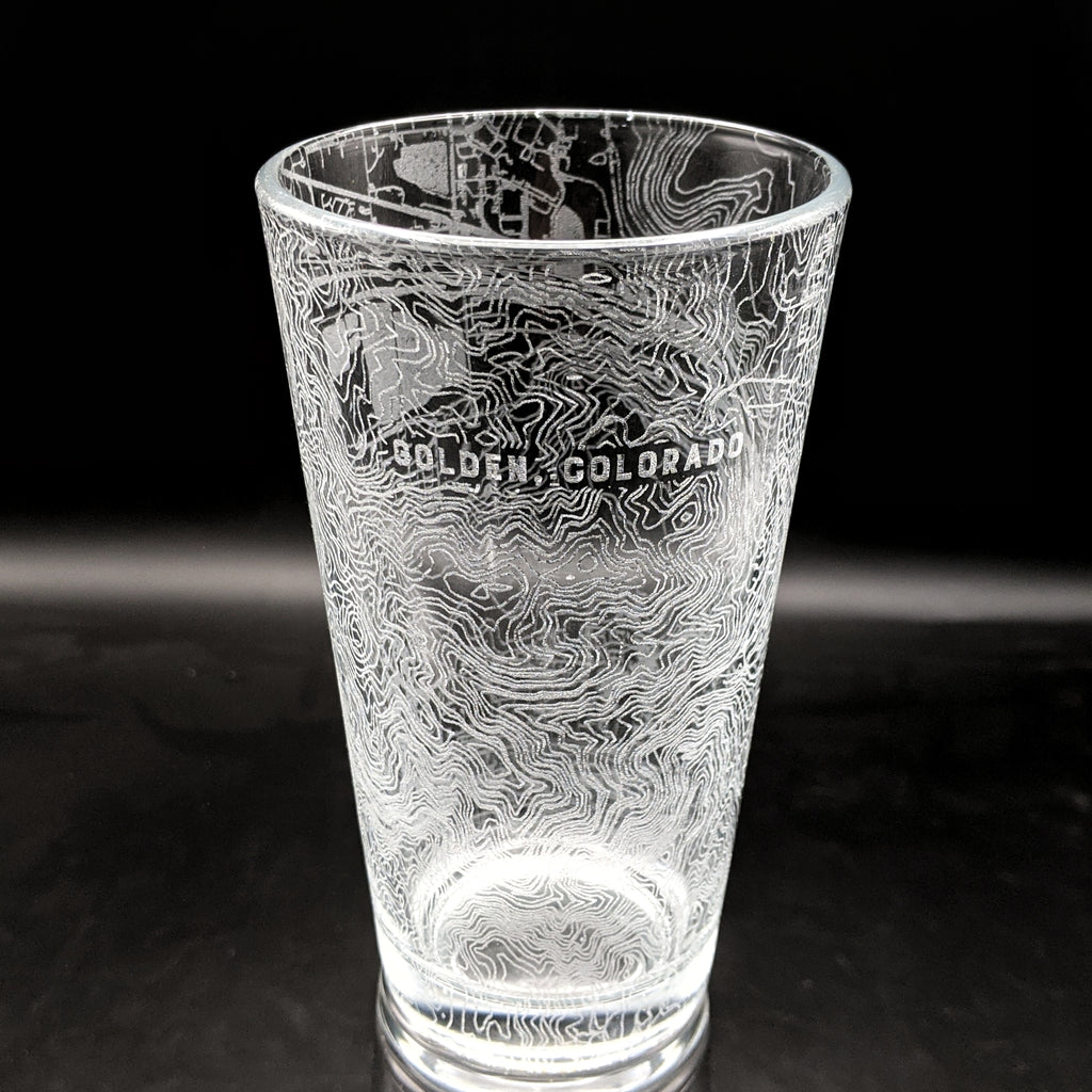 GOLDEN, CO - Engraved Pint Glass
