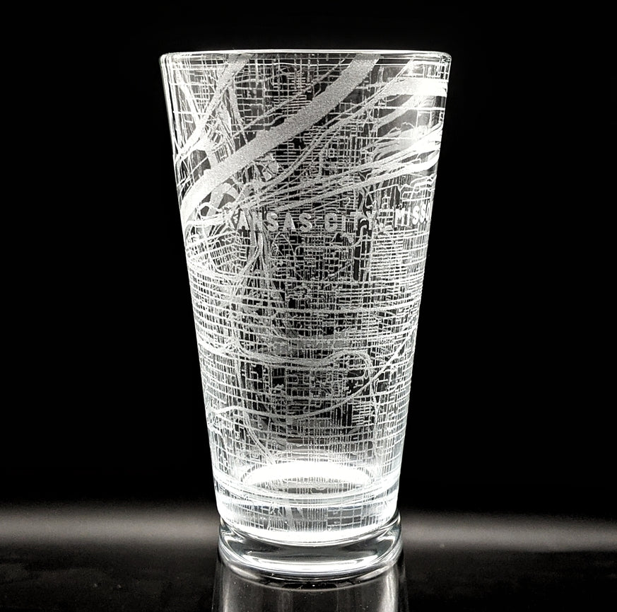 KANSAS CITY, MO - Engraved Pint Glass