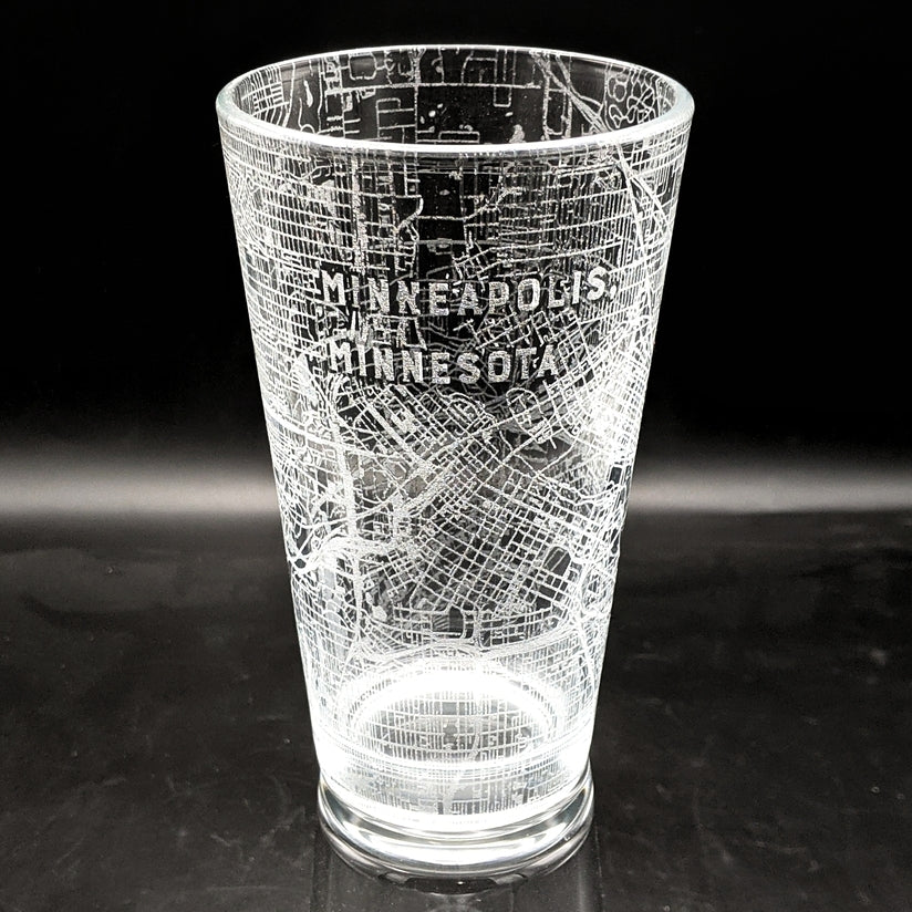 MINNEAPOLIS, MN - Engraved Pint Glass