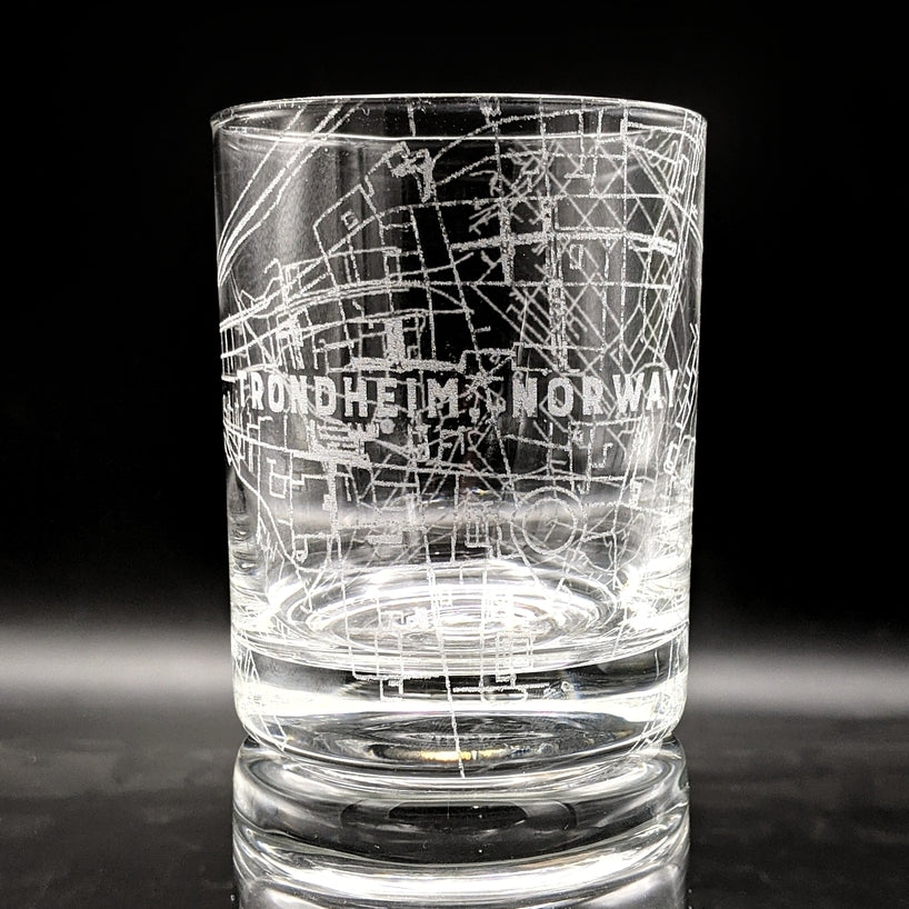 TRONDHEIM, NORWAY - Engraved Rocks Glass