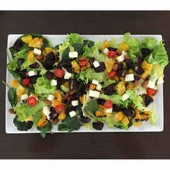 Roasted beetroot and pumpkin salad with orange and saffron dressing
