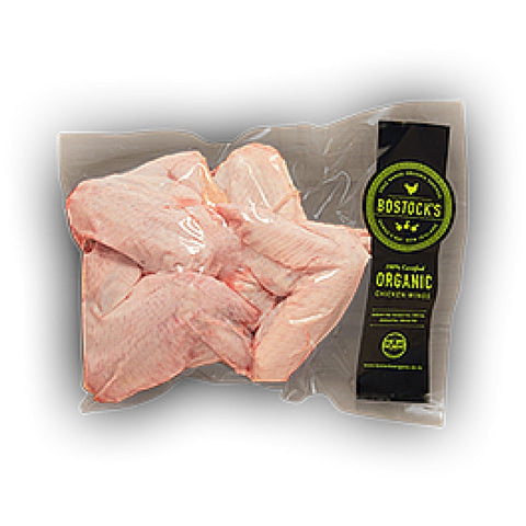 Bostocks organic chicken wings 500g