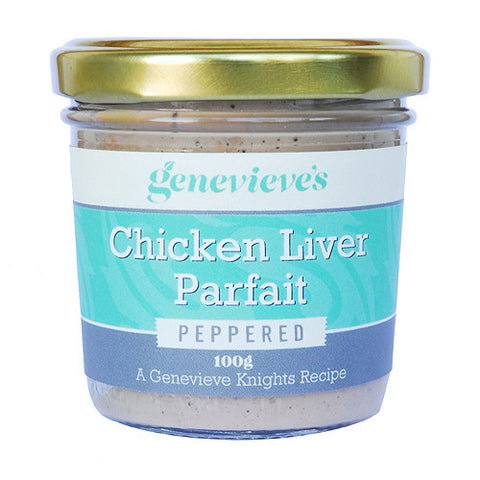 Genevieve's: Chicken liver Parfait peppered