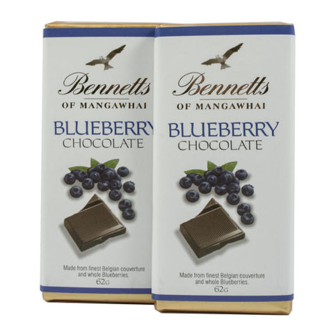 Bennetts of Mangawhai: Blueberry Chocolate bar
