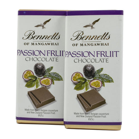 Bennetts of Mangawhai: Passionfruit chocolate bar