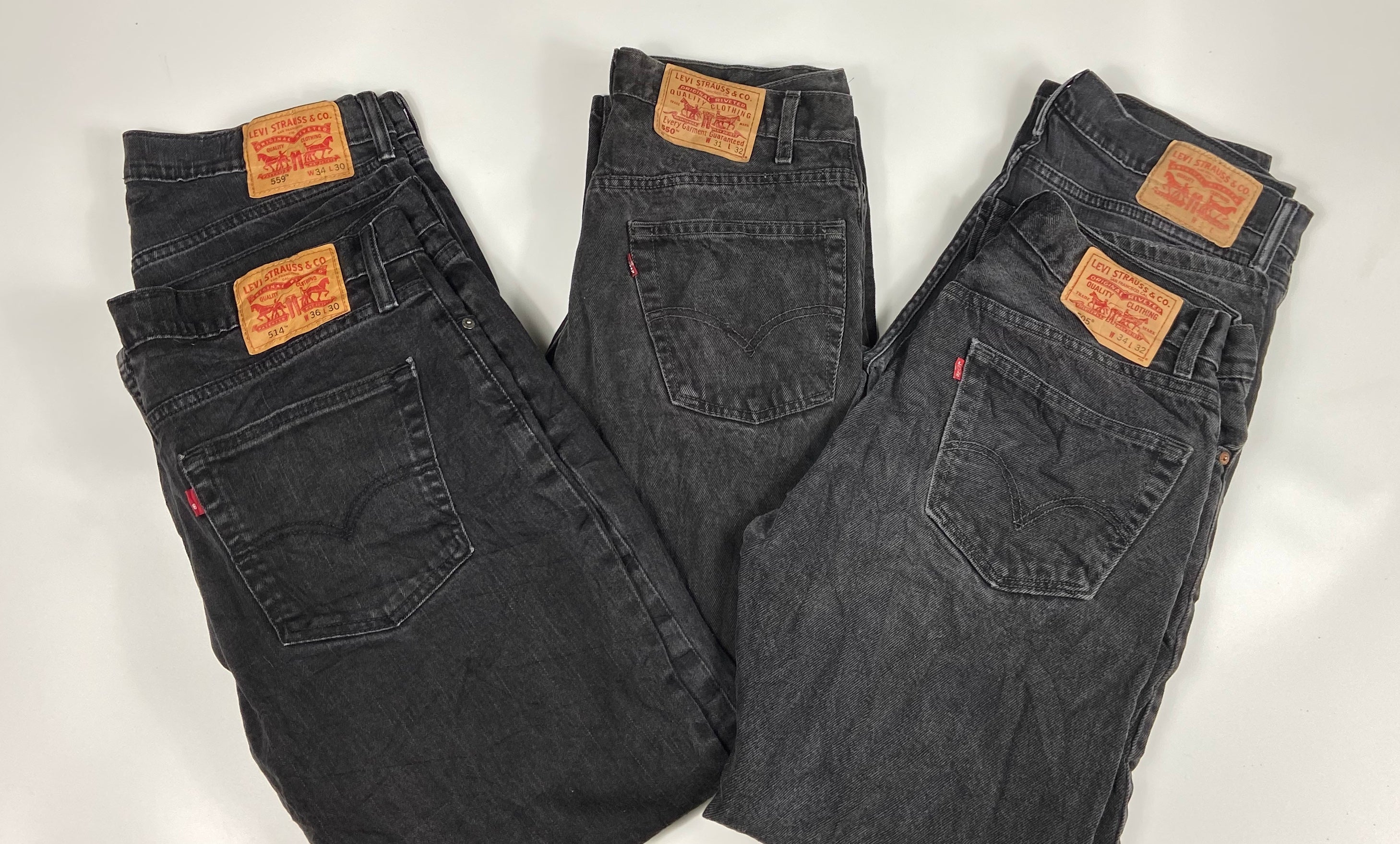 Vintage Original Levi's 501 Button Fly Jeans Waist 44 Length 34