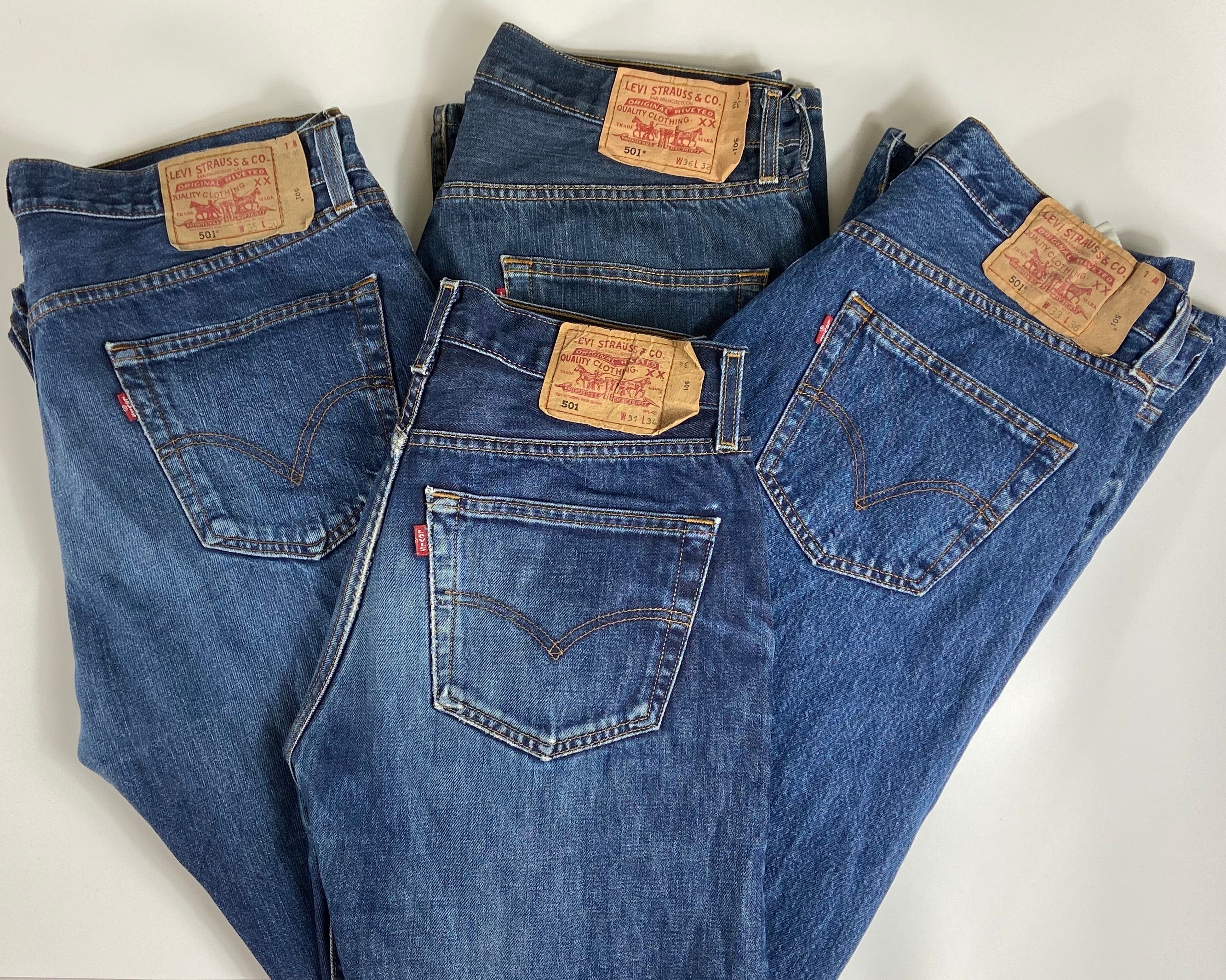 Vintage Original Levi's 501 Button Fly Jeans Waist 40 Length 30