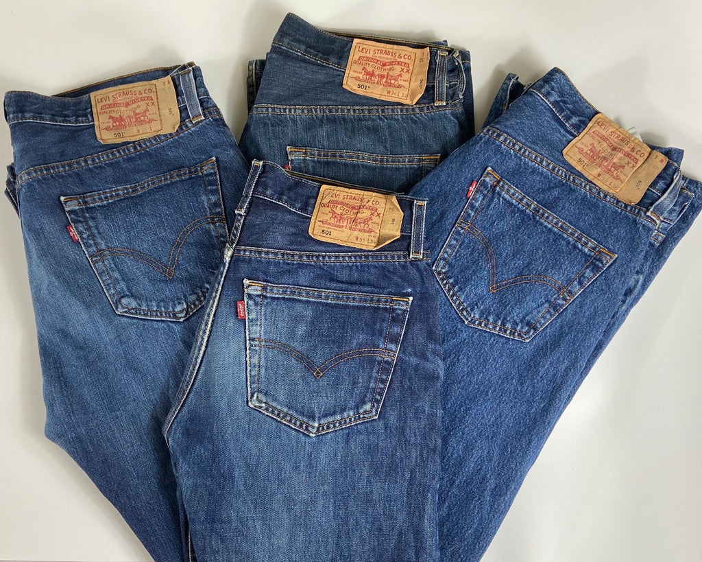 Vintage Original Levi's 501 Button Fly Jeans Waist 34 Length 32