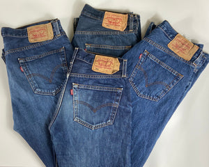 Vintage Original Levi's 501 Button Fly Jeans Waist 46 Length 34