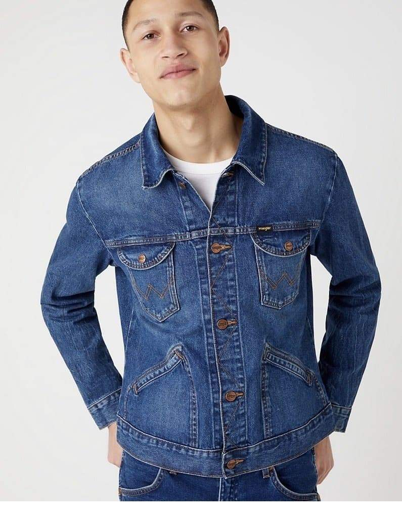 Men's Vintage Original Wrangler Blue Denim Jacket - Discounted Deals UK