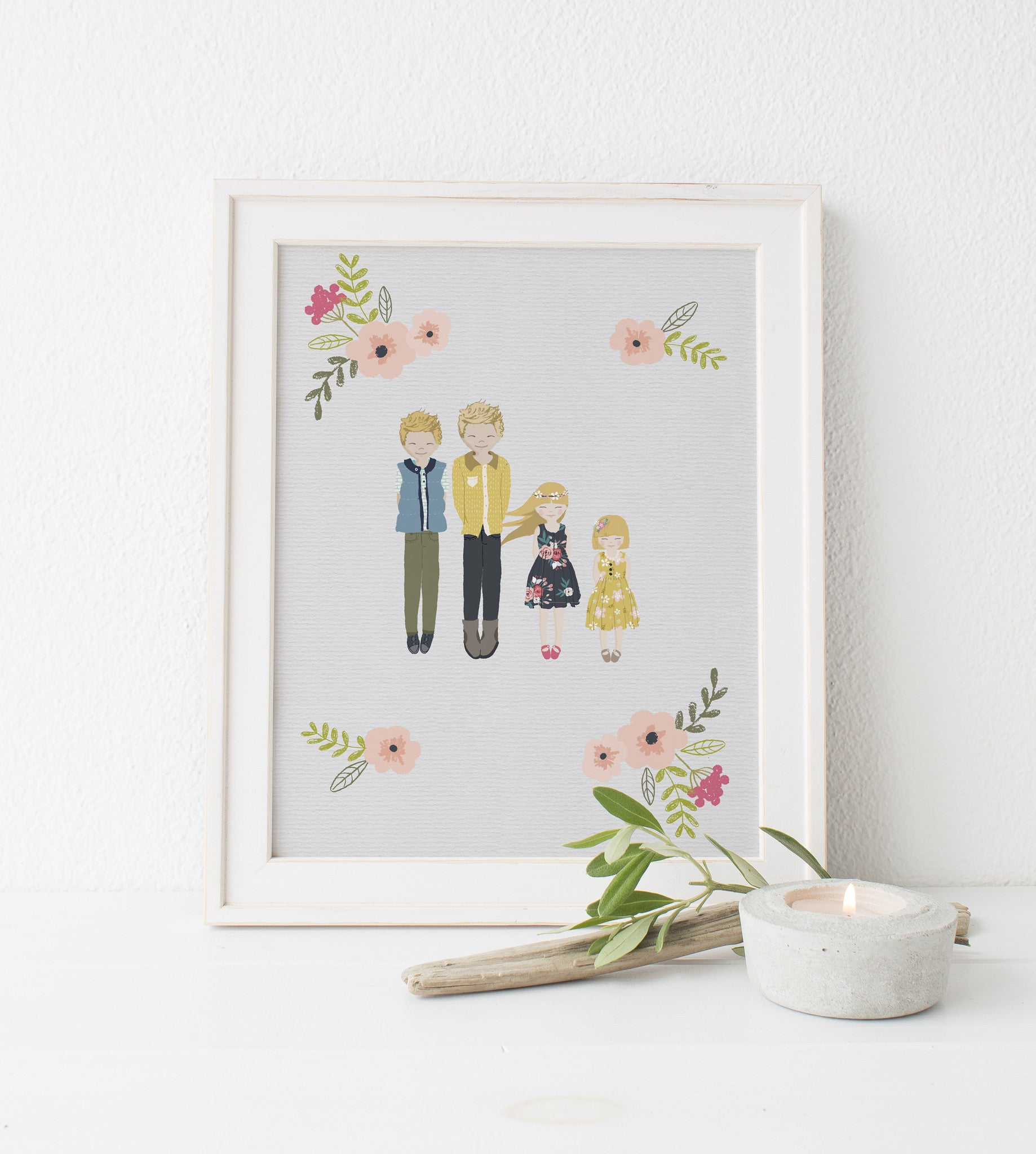 children portrait, whimsical portrait, family portrait, 8x10