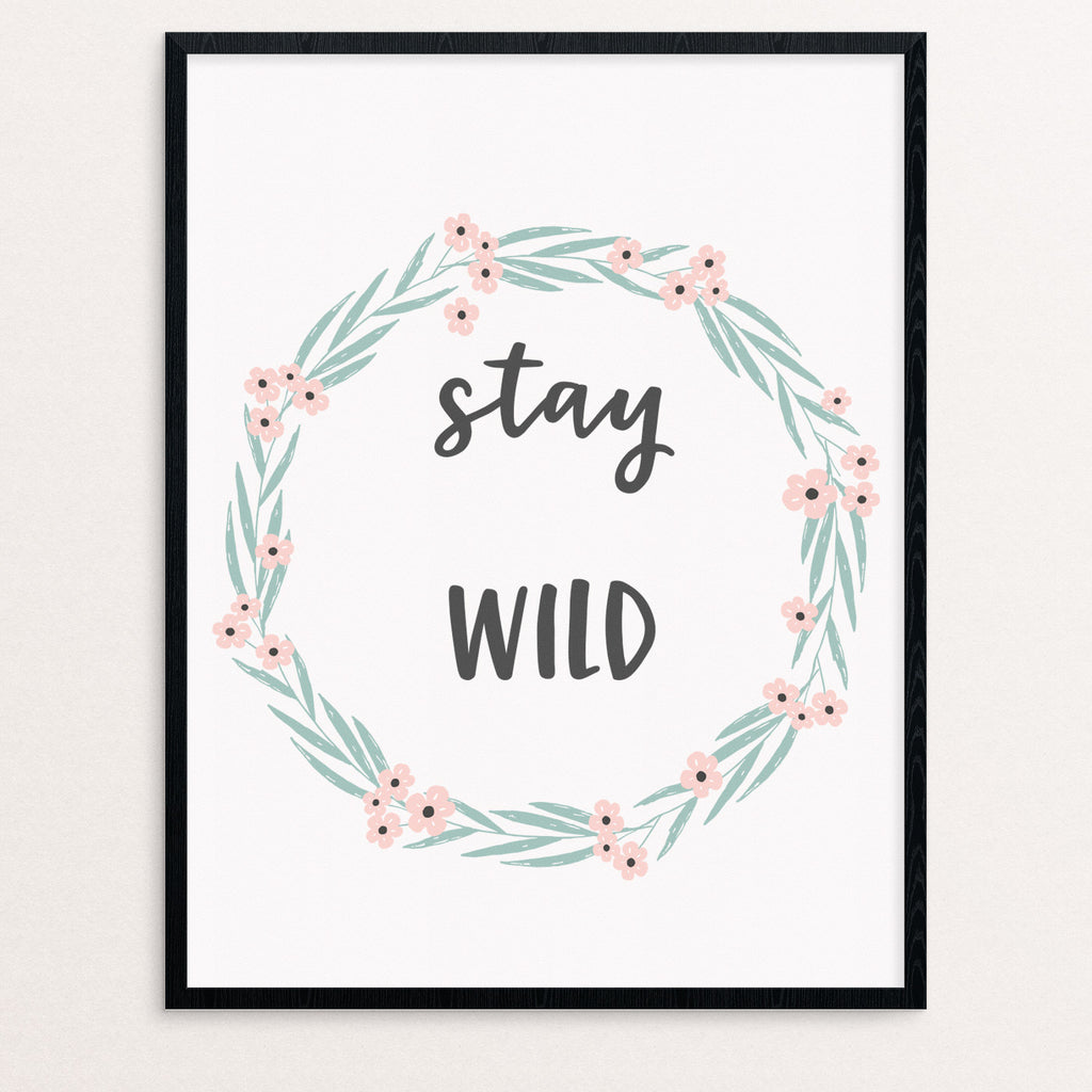 stay wild print, gallery wall art, nursery art, play room art, digital art