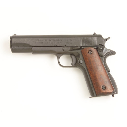 M1911 .45 Pistol With Wood Grips-Black