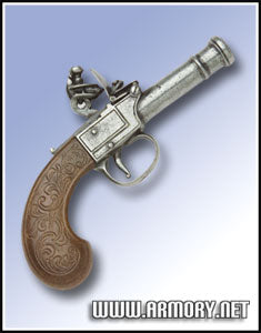 Pocket Flintlock Pistol-Grey Finish