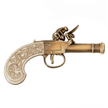 Load image into Gallery viewer, Ladies Muff Flintlock Pistol- Gold Finish