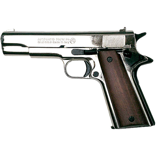 M1911 .45 High Polish Nickel Blank Firing Pistol