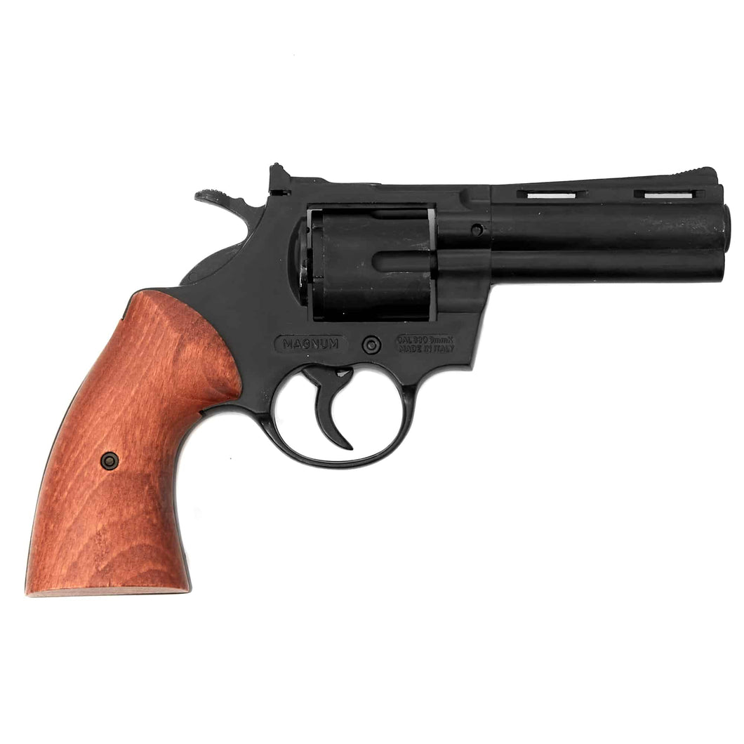 9mm Magnum Blank Firing Revolver- Black Finish