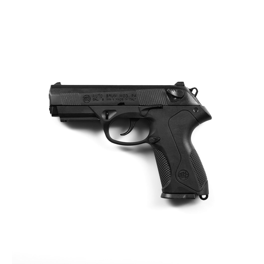 P4 Automatic Blank Firing Pistol- Black Finish
