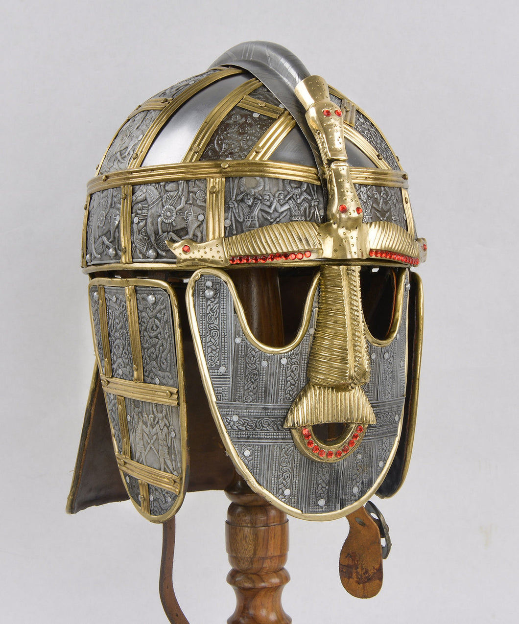 Sutton Hoo Deluxe Helm - 18 Gauge Steel