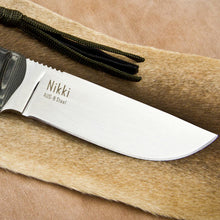 Load image into Gallery viewer, Nikki Aus8 Knife- Satin Finish
