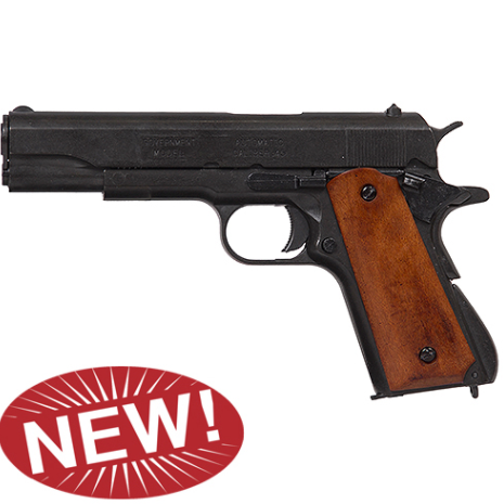M1911A1 Black Finish Dark Wood Grips Government Automatic Pistol Non-Firing Gun