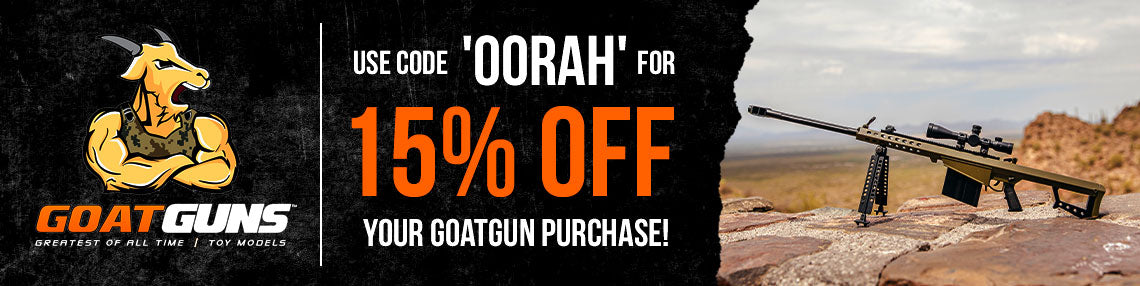 Use code oorah for 15% off your GoatGun purchase!