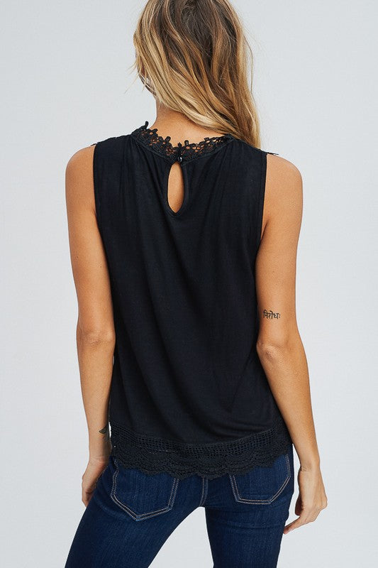 Lace Coven Sleeveless Top