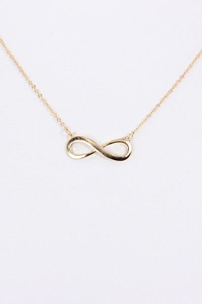 Gold Infinity Charm Necklace
