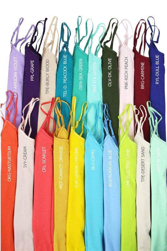 Basic Long Cami (Pick Your Color)