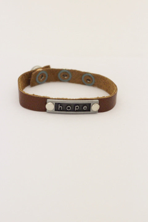 Hope Nameplate Layering Bracelet