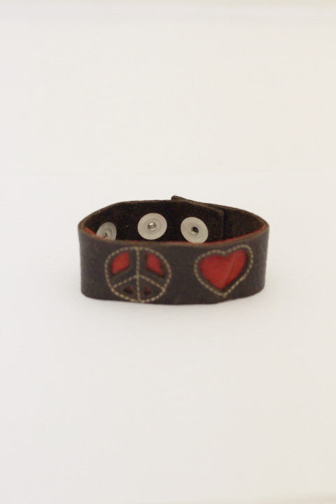 Mini Peace and Love Cuff