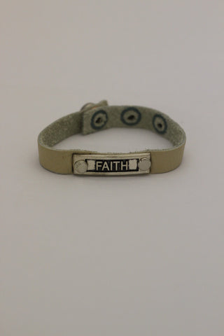 Faith Nameplate Bracelet