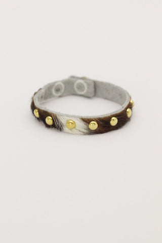 Studded Cow Hide Layering Bracelet (2 Colors)