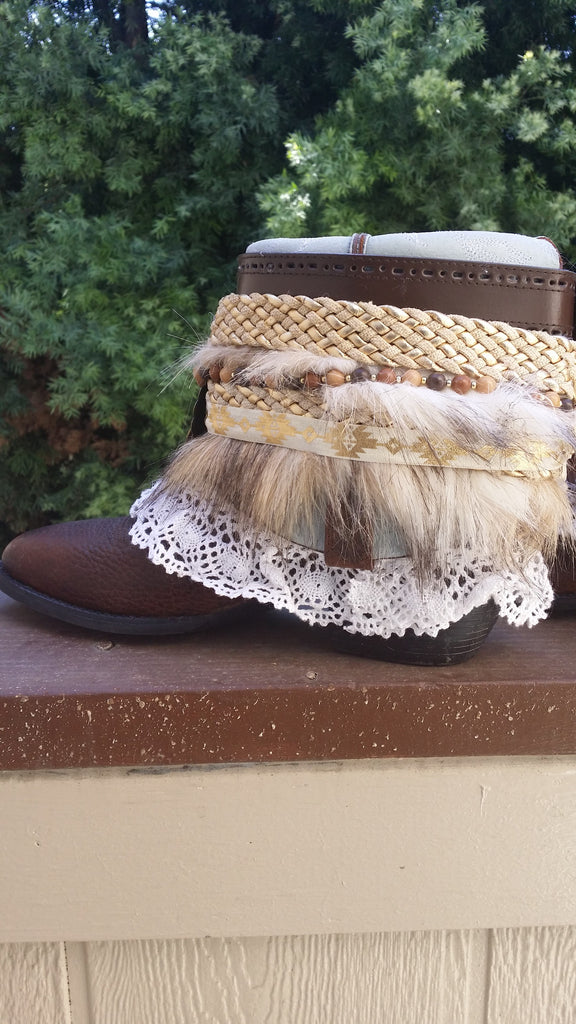 Uniquely Gypsyoutfitters Custom Made Boots - Size 8