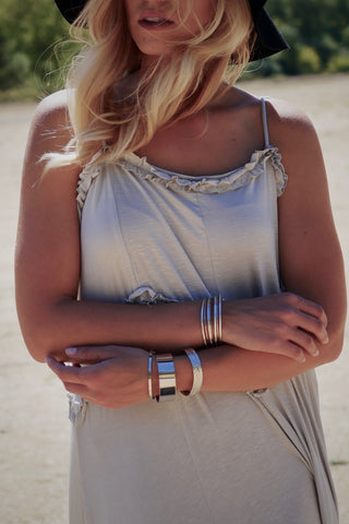 Metallic Open Cut Bracelet Set