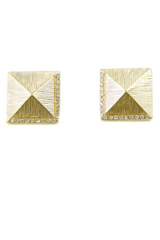Pyramid Stud Earrings (2 Colors)