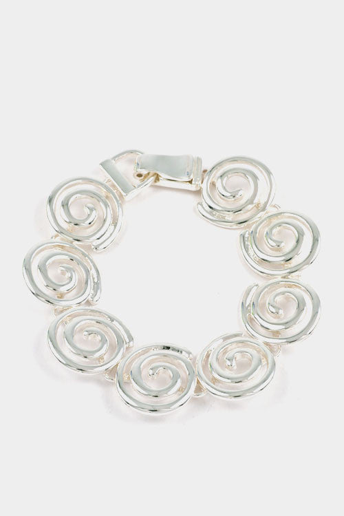 Swirl Linked Bracelet