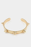 Spike Station Cuff Bracelet Rhodium