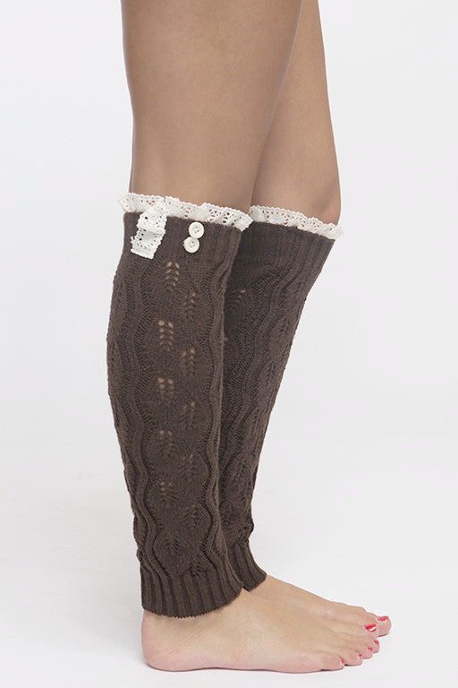 Cute as a Button Leg Warmers (Pack of 3)