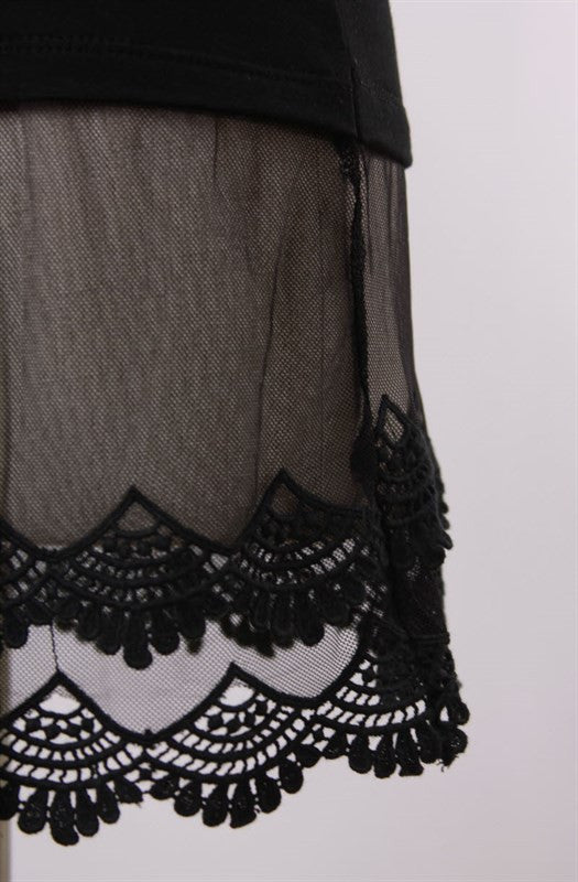 Pretty Lace Top Extenders (4 Colors Available)